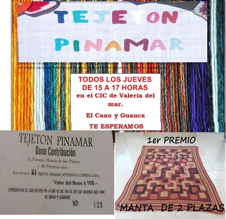 Venta de Bono Colaboración para obtener lana para ayudar – Tejetón Pinamar