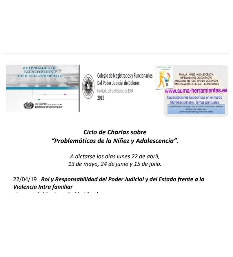 """Charlas sobre """"Problemáticas de la Niñez y Adolescentes"""" – Dra. Nenina Viera"""