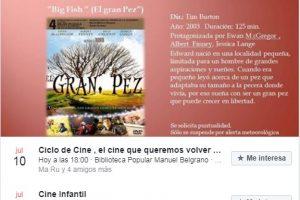 Cine y libros – Biblioteca cerrada en Vacaciones / Marilina Coronel