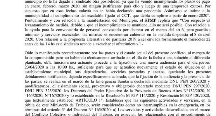 """Medidas de paro – STMP – """"Quedan aún 450 compañeros sin cobrar la totalidad"""" Sonia Valent"""