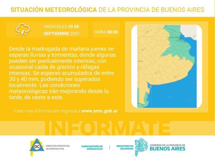 En este momento estás viendo Se esperan fuertes tormentas, actividad eléctrica, viento y posibles granizos – Aguardando alertas