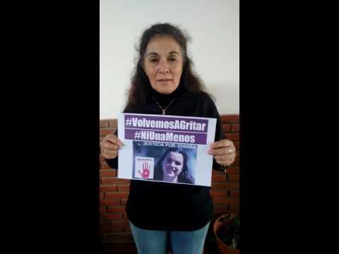 """""""Ni una menos nació por mi hija; porque la mataron por defender la vida de su bebé"""" – Verónica Camargo"""